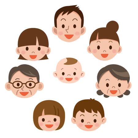 familia feliz cada uno sonreír