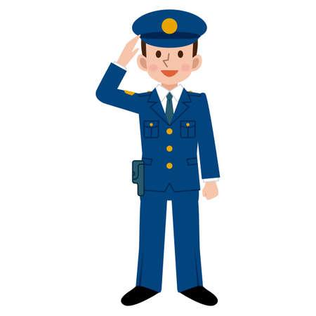 femme policier: Hommes policiers