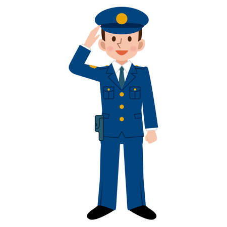 officers: Male police officers Illustration