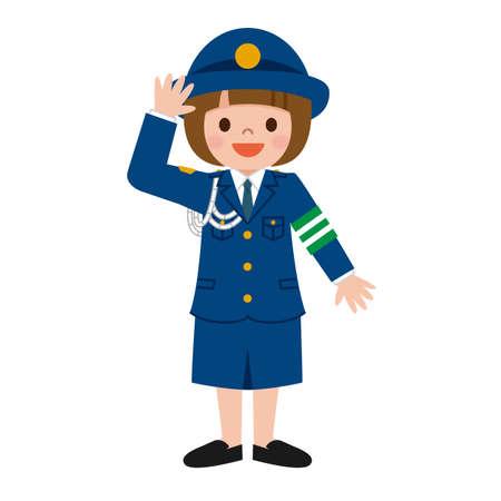 femme policier: Policewoman des enfants