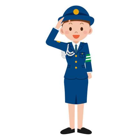 femme policier: Les policières Illustration