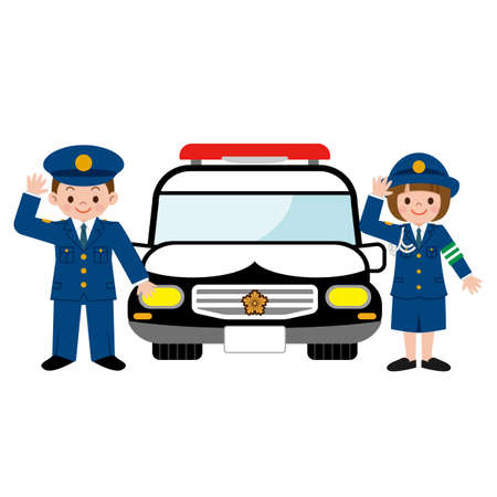 Children and patrol car