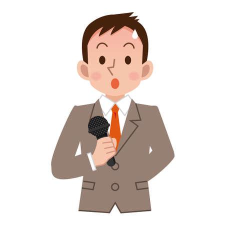 Geschäftsmann zu sein, die Spannung in der Rede