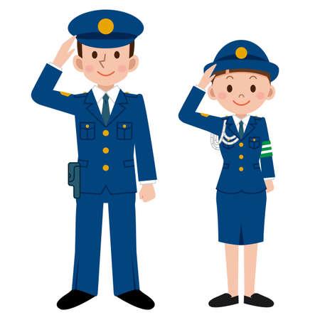 Police men and women 矢量图像