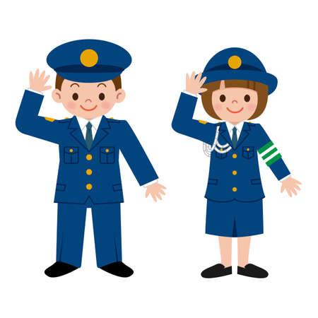 femme policier: agent de police des enfants Illustration