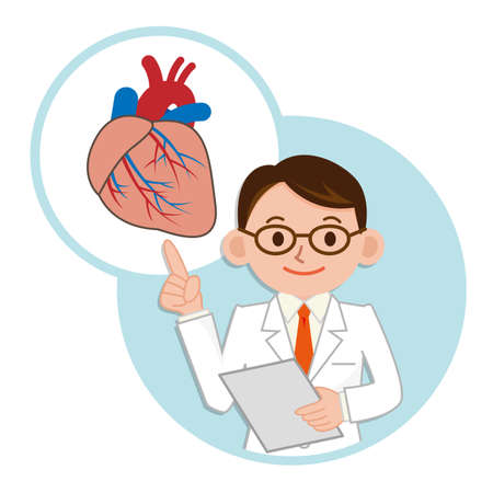 Doctor pointing finger the heart