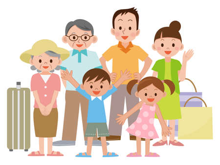 Illustration of Family travel
