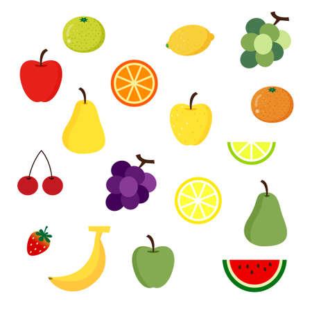 Conjunto de ilustración de la fruta