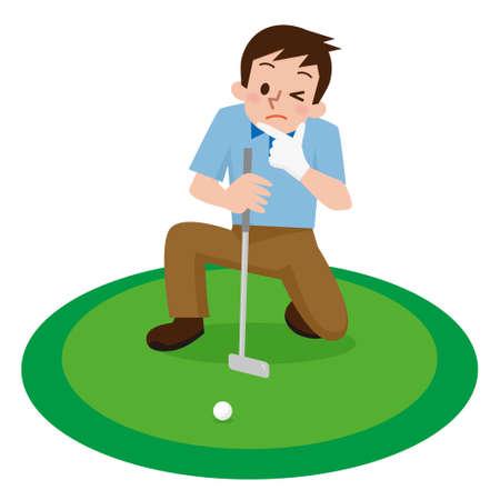 ゴルフの若い男性