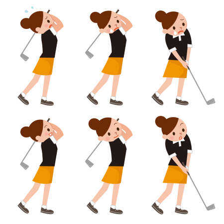 woman golf: Woman to play the Golf