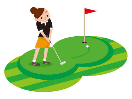 play golf: Woman to play the Golf