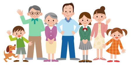 Illustration of Happy family Stock Illustratie