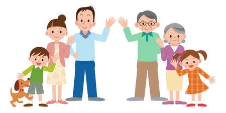 Illustration of Happy family Vettoriali