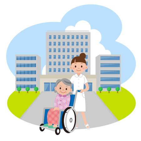 Hospital care: Nurse and Hospital
