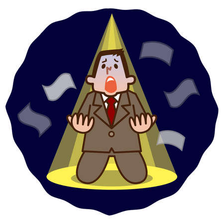 Illustration of Businessman despair