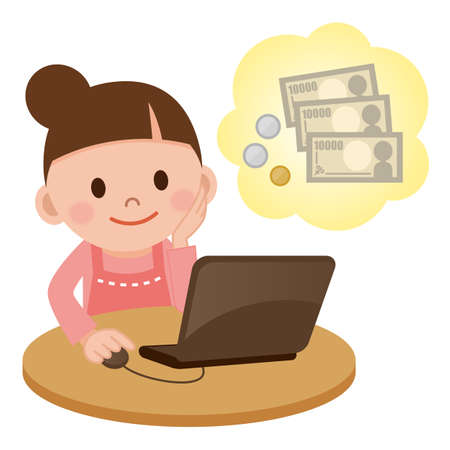 personal banking: Housewife that make money in the Internet