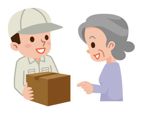 Illustration of Delivery staff
