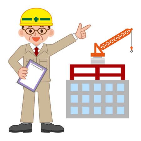 Illustration of Site supervisor Vettoriali