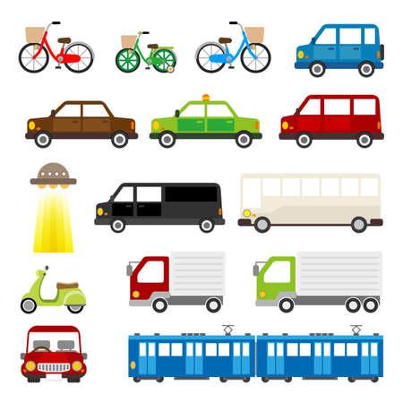 motor vehicle: Vector illustration. Original paintings and drawing.