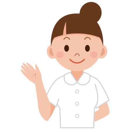 Illustratie van jonge verpleegster Stock Illustratie