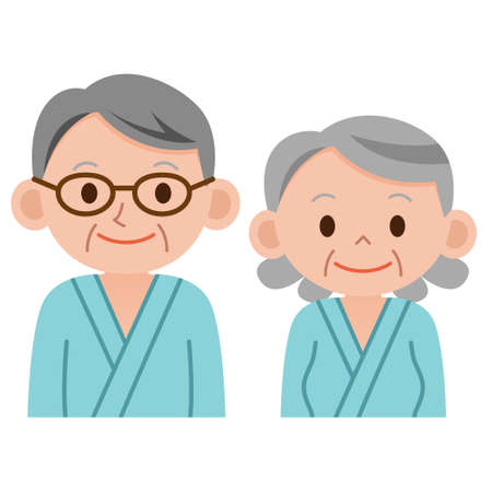 inquiry: Man and woman who undergoes checkup Illustration