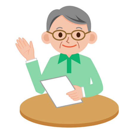 administrador de empresas: hombre mayor de guía Vectores