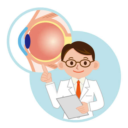 To the description of the eye doctor Illustration