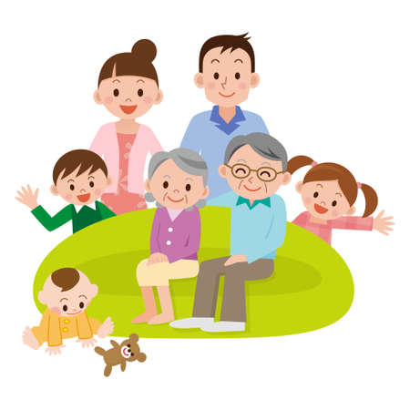 Illustration of Happy Family