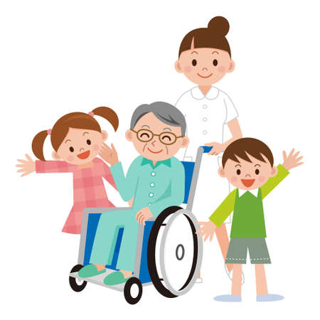 Man in a wheelchair Illustration