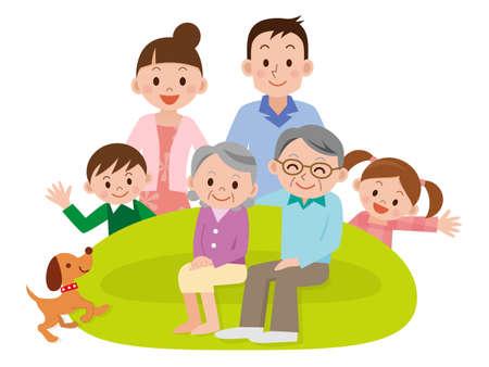 Illustration von Happy Family