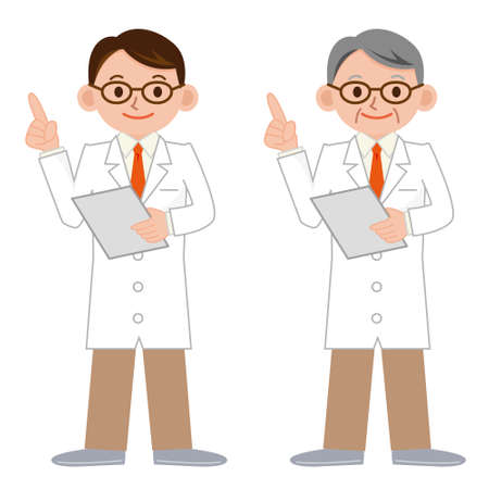 hapy: Clever doctor in a white coat Illustration