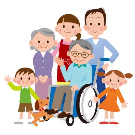 Illustration von Happy Family Vektorgrafik