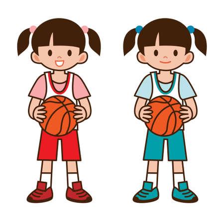 asian student: Girl to play basketball