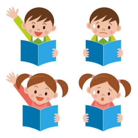 Child to read the textbook