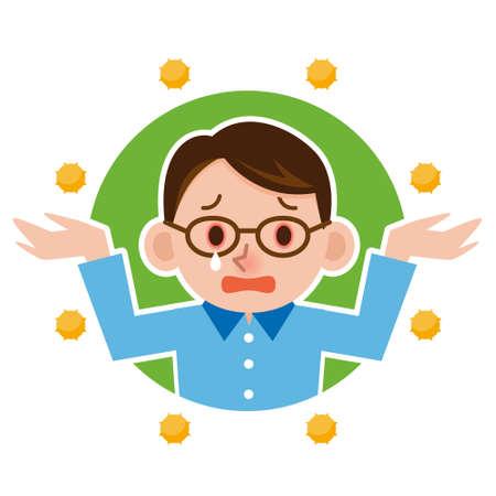 Illustration of Hay fever