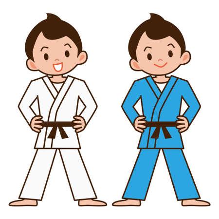 back belt: Boy to judo