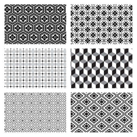 Vector set of circular patterns