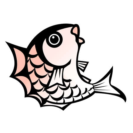life style people: Illustration of sea bream