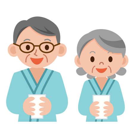 Illustration of physical examination