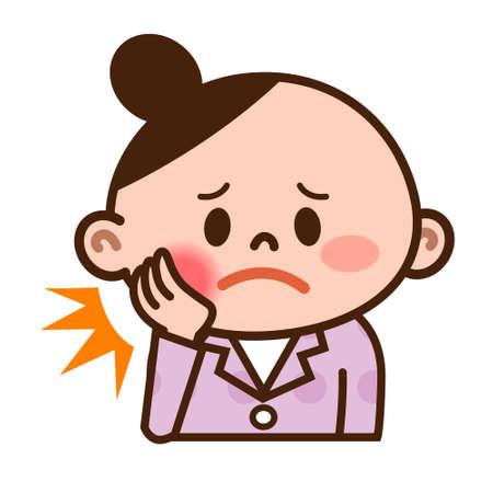 Las mujeres en el dolor de muelas