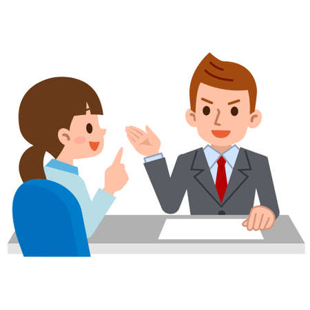 Person to consult at the reception Illustration