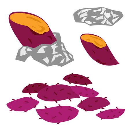 Ilustración de la patata dulce al horno