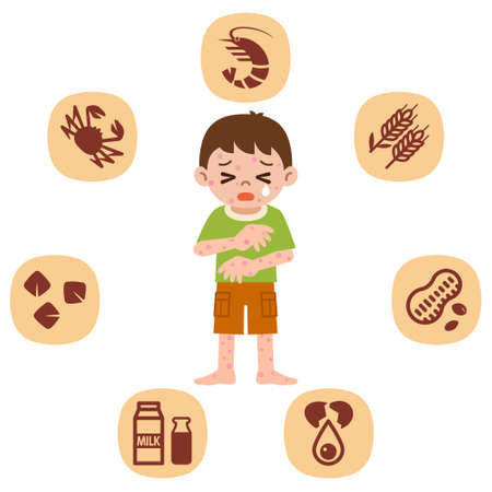 Children who suffer from allergies