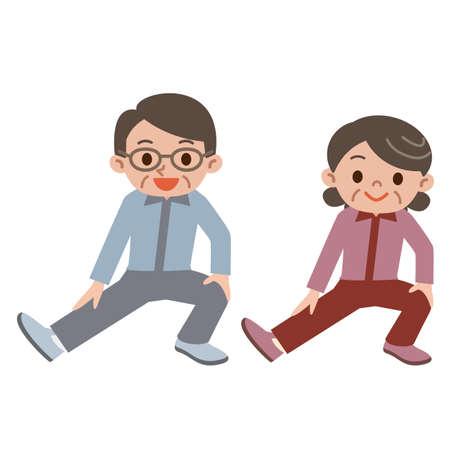 stretch: Senior couple to the stretch