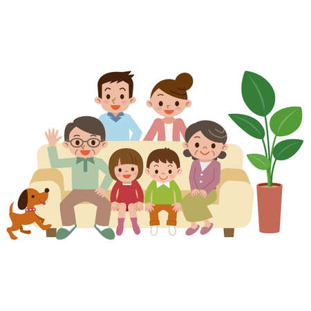 Illustration of Happy family 向量圖像
