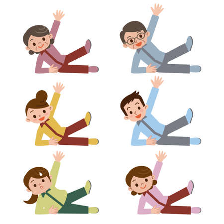 person with an individual exercise Illustration