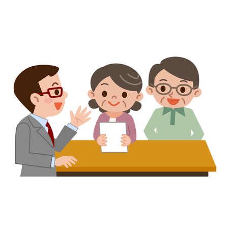 signing agent: Senior couple submit documents