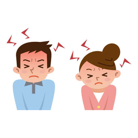 Men and women to be frustrated by stress Illustration