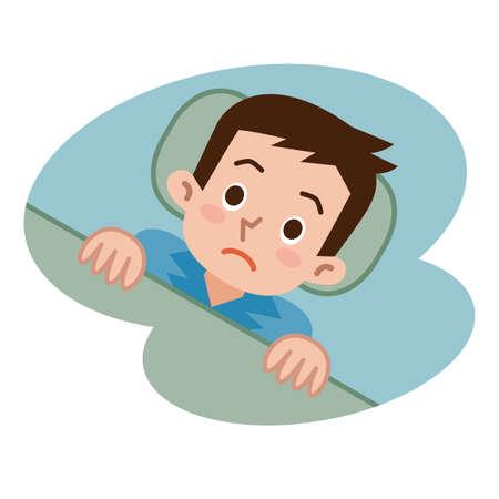 男性不眠症で寝ていません。