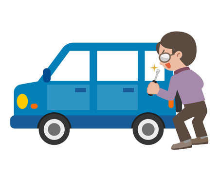 Illustration of Car thief Illustration